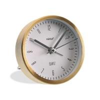 Reloj despertador redondo marco color dorado 9 cm