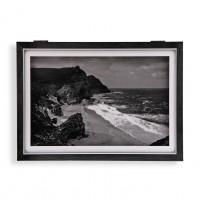 Tapa cubre contadores paisaje playa con acantilado 46x33x4,5cm
