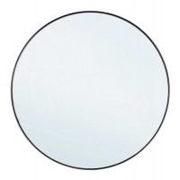 Espejo redondo marco metal negro Nucleos Ø70 cm