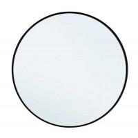 Espejo redondo marco metal negro Nucleos Ø50 cm