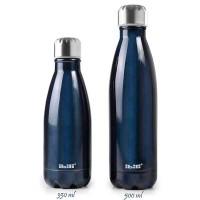 Botella isotérmica acero inoxidable doble pared Blue Ibili 350ml