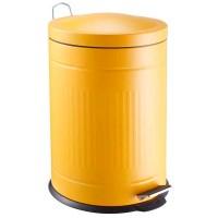 Papelera metal Step amarillo mostaza 20 litros