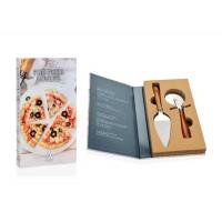 Set de 2 utensilios para Pizza mango madera acacia 18x32x4h cm